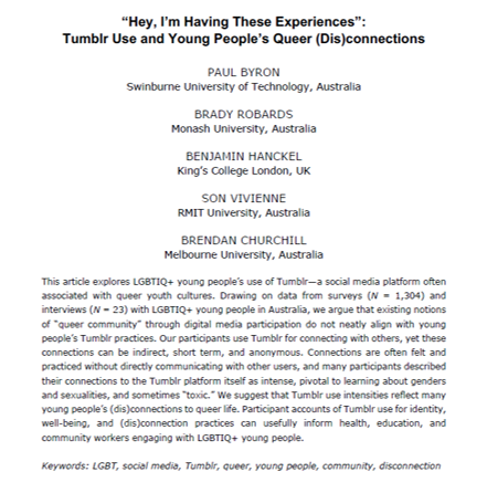 hey i'm having these experiences title page